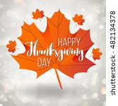 happy thanksgiving day holiday... | Shutterstock .eps vector #482134378