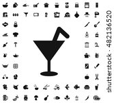 cocktail icon illustration...   Shutterstock .eps vector #482136520