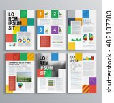 business brochure template... | Shutterstock .eps vector #482137783