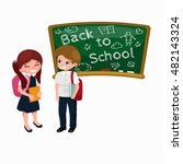 back to school and children... | Shutterstock . vector #482143324