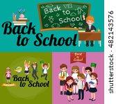 back to school and children... | Shutterstock . vector #482143576