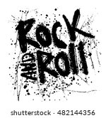 rock music print  hipster... | Shutterstock .eps vector #482144356