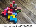 abstract construction from... | Shutterstock . vector #482145208