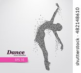 silhouette of a dancing girl of ... | Shutterstock .eps vector #482148610
