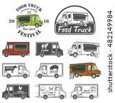 food truck street festival... | Shutterstock . vector #482149984
