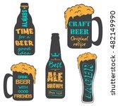 vintage craft beer brewery... | Shutterstock . vector #482149990