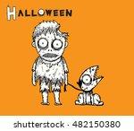 zombie halloween background... | Shutterstock .eps vector #482150380