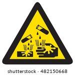 danger corrosive sign | Shutterstock .eps vector #482150668