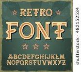 retro military font. 1945.... | Shutterstock .eps vector #482152534
