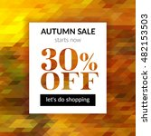 autumn sale background with...   Shutterstock .eps vector #482153503