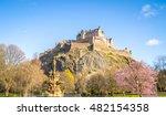 edinburgh castle  scotland ... | Shutterstock . vector #482154358