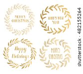 vintage christmas card.... | Shutterstock .eps vector #482155264