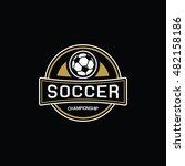 vintage soccer logo | Shutterstock .eps vector #482158186