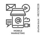 mobile marketing thin line... | Shutterstock .eps vector #482158228
