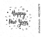 happy new year handmade modern...   Shutterstock .eps vector #482158879