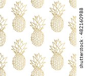 Seamless Pattern. Gold...