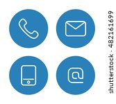 contact icon set. | Shutterstock .eps vector #482161699