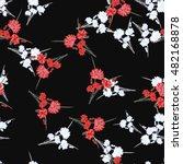 seamless pattern of wild small... | Shutterstock . vector #482168878
