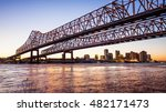 crescent city connection bridge ... | Shutterstock . vector #482171473