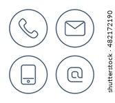 contact icon set. | Shutterstock .eps vector #482172190