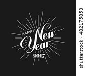 happy new 2017 year. holiday... | Shutterstock .eps vector #482175853