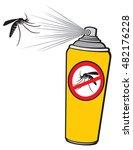 anti mosquito spray  repellent... | Shutterstock .eps vector #482176228