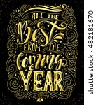 all the best from the coming... | Shutterstock .eps vector #482181670