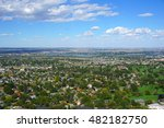 Tri-Cities Washington area view from high vantage point with Columbia river in background