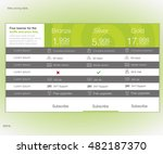 web pricing table. vector... | Shutterstock .eps vector #482187370
