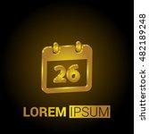 26th calendar 3d golden...