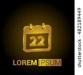 22nd calendar 3d golden...