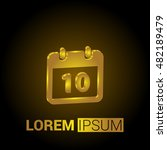 10th calendar 3d golden...