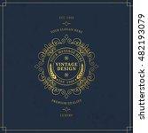 vector calligraphic logo...   Shutterstock .eps vector #482193079