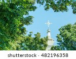 Dome Of The Church With A Cros...