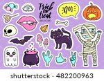 halloween fashion quirky kawaii ... | Shutterstock .eps vector #482200963