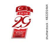vector illustration 29 ekim... | Shutterstock .eps vector #482201464