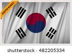 national flag of south korea  ... | Shutterstock .eps vector #482205334