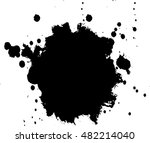 abstract black ink splash... | Shutterstock .eps vector #482214040