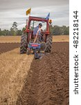 Small photo of Crockey Hill, York, England 10 September 2016 Alex Irving from Scotland, competing in the Vintage, Hydraulic Plough class of the World Ploughing driving a Fordson N with a Ransome TS59 plough