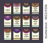 vintage banners cards set.... | Shutterstock .eps vector #482219206