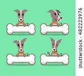 cartoon character greyhound dog ... | Shutterstock .eps vector #482223976