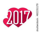 heart silhouette. symbol 2017... | Shutterstock .eps vector #482231170