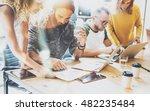 startup diversity teamwork... | Shutterstock . vector #482235484
