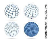 set of four frame planet sphere ... | Shutterstock . vector #482237698