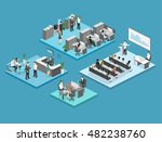 sometric flat 3d abstract... | Shutterstock .eps vector #482238760