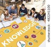 academic knowledge improvement... | Shutterstock . vector #482241100