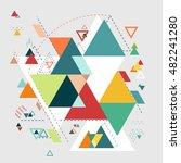 abstract modern geometric...   Shutterstock . vector #482241280