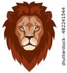 graphic illustration of a lion... | Shutterstock .eps vector #482241544