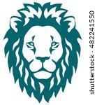 stylized illustration of a lion ... | Shutterstock .eps vector #482241550