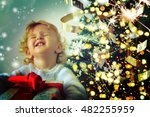 christmas little girl | Shutterstock . vector #482255959